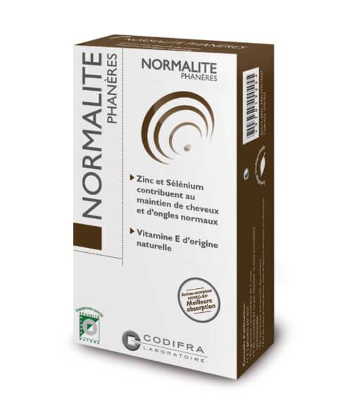 Normalite phaneres - Complément alimentaire cheveux et ongles